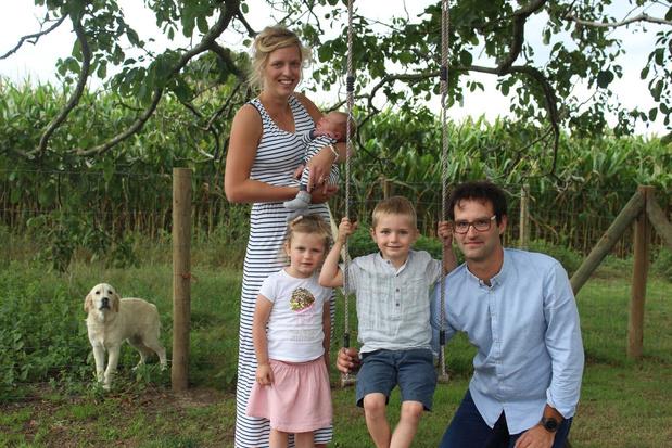 Herlinde Blockeel en Benoit Slaets uit Hooglede kozen voor een 'staycation'