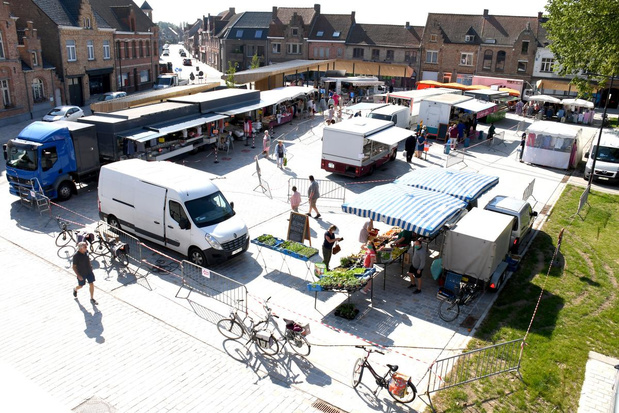 Markt in Langemark is terug na coronapauze