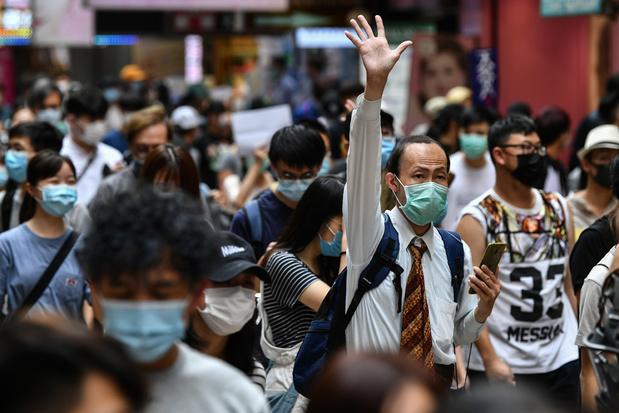 Hongkong komt op straat tegen Chinese 'veiligheidswet', politie grijpt in