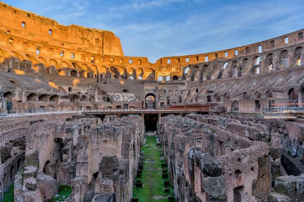 Italië herstelt vloer Colosseum in oude glorie
