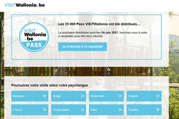 Pass VISITWallonia : les 25.000 pass écoulés en quelques minutes