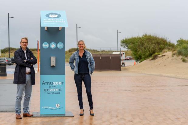 Hygiënezuilen en extra toiletten op de Zeedijk in Middelkerke en Westende