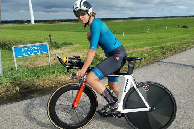 Julie Sap knap tweede in Monstertijdrit in Nederland