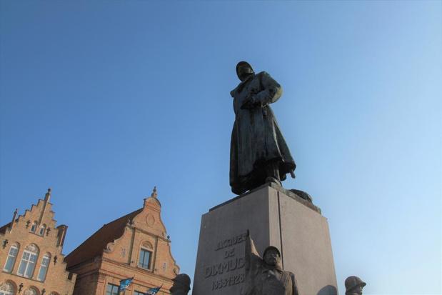 N-VA Diksmuide heeft bedenkingen bij standbeeld Generaal Baron Jacques op Grote Markt
