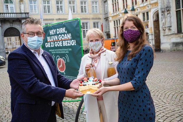 Brugs stadsbestuur krijgt taart voor inzet tegen voedselverspilling