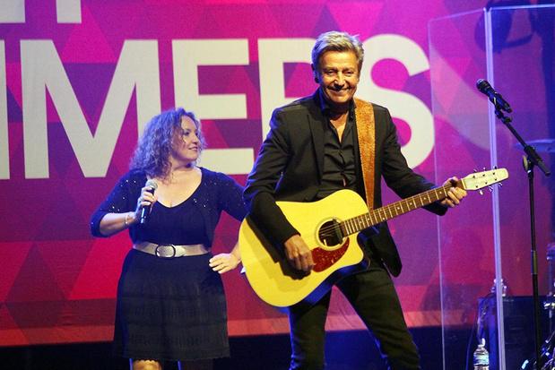 Willy Sommers staat voor eerste keer op het podium tijdens optreden in Puurs