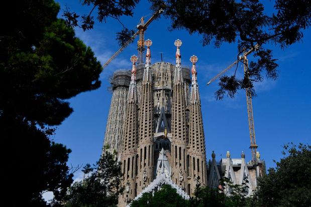 Bouw Sagrada Familia in Barcelona loopt veel vertraging op door corona