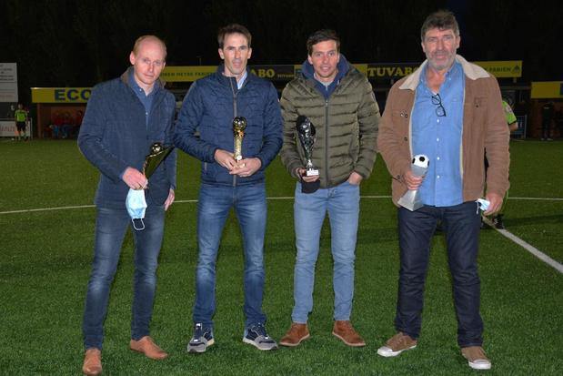Ex-trainer en drie ex-spelers gehuldigd bij SV Anzegem