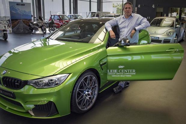 "Unieke groene BMW in showroom Leie Mobility Group: ""De wagen prikkelt verzamelaars"""