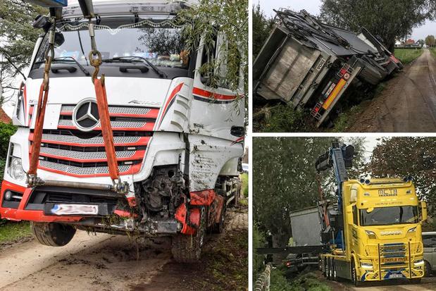 Modder veroorzaakt slippartij vrachtwagen