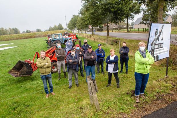 Landbouwers protesteren tegen Ventilus tijdens de BinckBank Tour