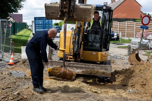 Bom van 120 kilogram ontdekt tijdens rioleringswerken in Wijtschate