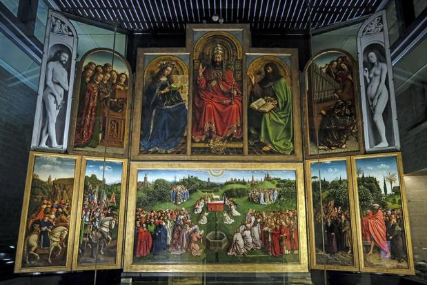 Nieuw onderzoek Lam Gods toont aan dat aandeel Hubert Van Eyck groter was dan gedacht