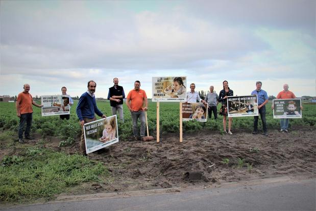 Tachtig nieuwe campagneborden met opvallende landbouwslogans in en rond Wingene