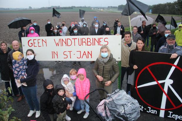 Bewoners Sint-Jan Ieper verzetten zich tegen komst grote windmolens
