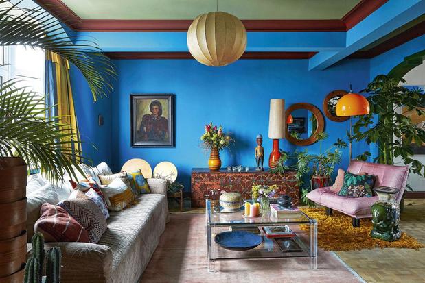 La couleur, même pas peur! Visite d'un appartement inspiré par Frida Kahlo à Anvers