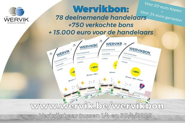 Stad verhoogt waarde van nieuwe Wervikbon