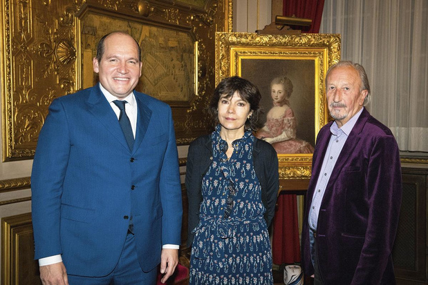 Nathalie Obadia à l'Hôtel de Ville de Bruxelles
