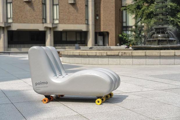 Poimo, un véhicule gonflable, transportable dans un sac à dos