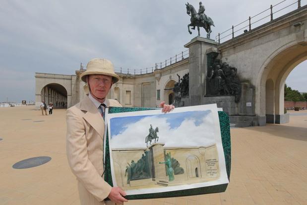 Herr Seele wil ruiterstandbeeld van Leopold II vervangen door Cowboy Henk