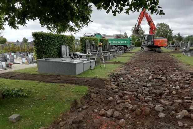 Werken begraafplaats Ter Ruste in Poperinge zijn opgestart