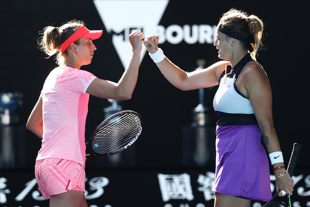 Elise Mertens wint dubbelspel Australian Open met Aryna Sabalenka