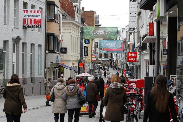 Kortrijk krijgt 1,2 miljoen minder mensen op bezoek door lockdown