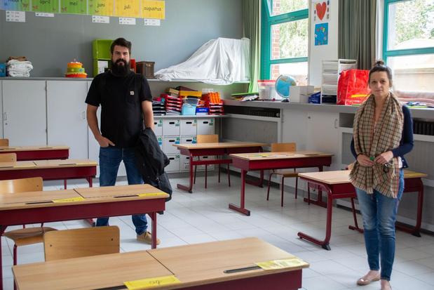 """Wevelgemse scholen klaar voor de heropstart: """"Alsof we terug in de tijd gaan"""""""