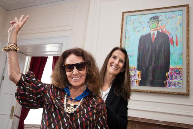 Mode-ontwerpster Diane von Fürstenberg in New York benoemd tot commandeur in de Kroonorde