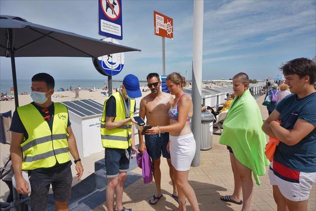 """Reservatiesysteem voor strand van Oostende werkt: """"Er was nog plaats over"""""""