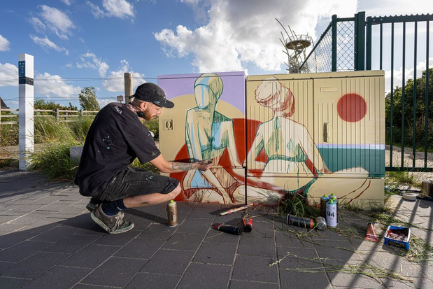 Nutskastjes krijgen nieuwe look: wandelen en fietsen langs prachtige streetart