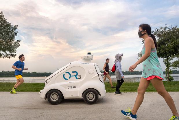 De strenge aanpak van Singapore: van witte robotjes tot foto van overtreders op cover van krant