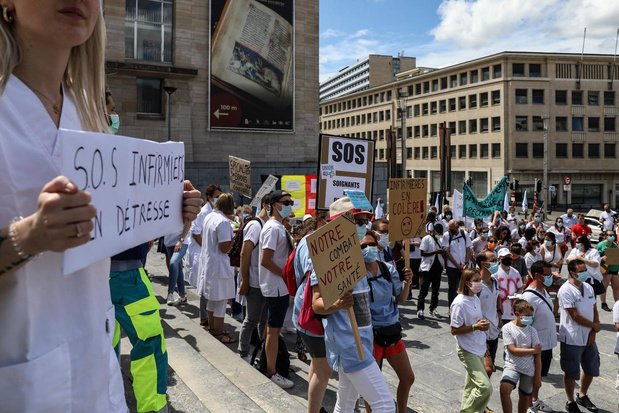 Manifestation de rentrée du personnel soignant le 6 septembre à Bruxelles