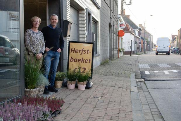Bloemenhandel ziet werken in Warandestraat, net voor 1 november, met lede ogen aan