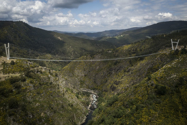 Langste hangbrug voor voetgangers geopend in Portugal
