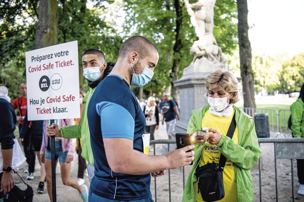 Covid Safe Ticket en Wallonie: utilisation élargie jusqu'au 31/01
