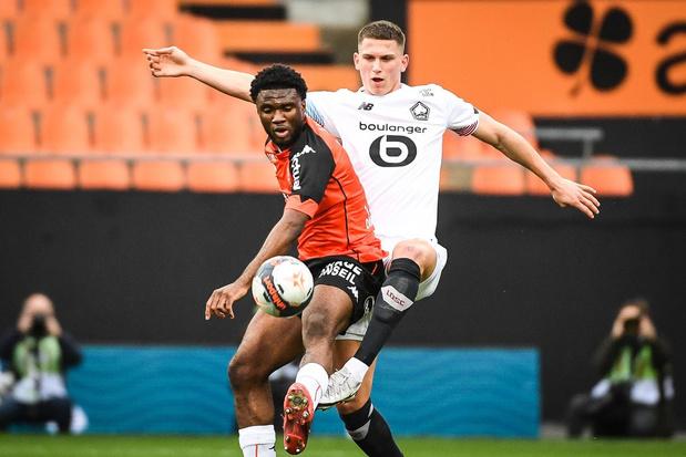 Terem Moffi (ex-KV Kortrijk) scoort ook voor Lorient