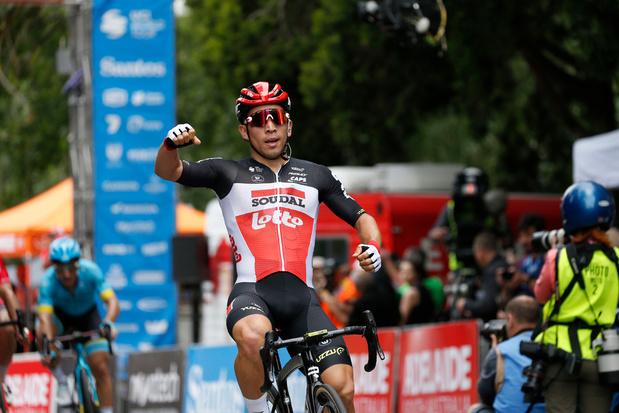 Ook Lotto-Soudal heeft al prijs in Tour Down Under: Ewan wint tweede etappe en pakt leiderstrui