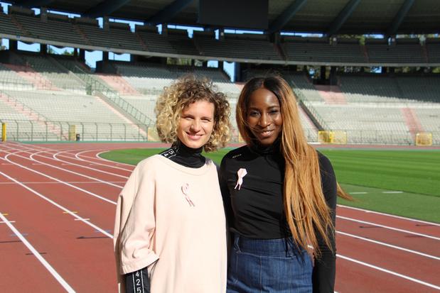Elodie Ouédraogo en Olivia Borlée ontwerpen nieuw Pink Ribbon-lintje