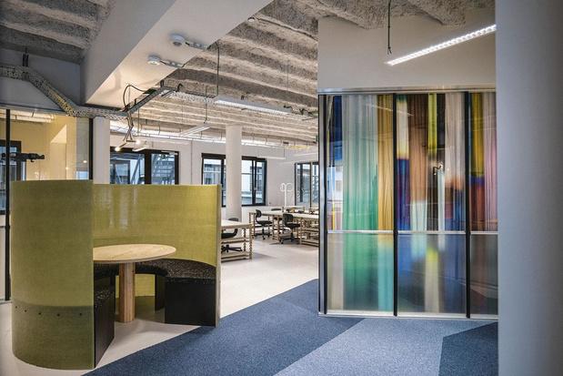 Visite de l'ancien siège Shell bruxellois, transformé en espace de coworking
