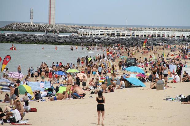 Stranden met aanmeldingsplicht in Oostende zo goed als vol