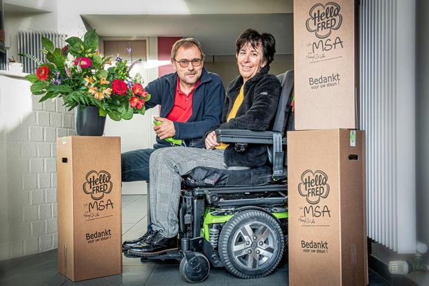 """Fred Verhaeghe verkoopt bloemenbox voor ongeneeslijk zieke vrouw: """"Liefde houdt ons overeind"""""""