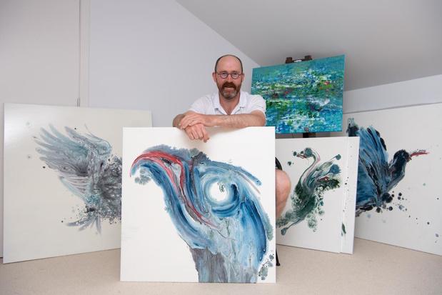 Kunstenaar Karel Dendauw uit Lendelede stelt voor het eerst tentoon
