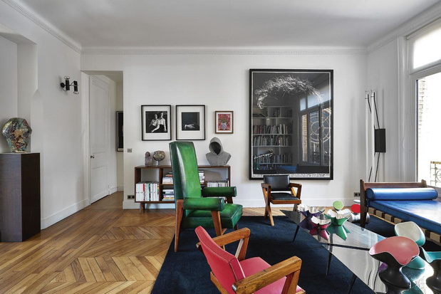 Sixième ciel: chez Kris Van Assche, à Paris, dans son appartement aux airs de musée