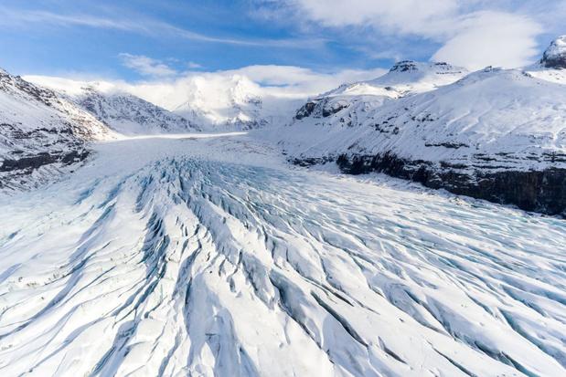 Dronefoto's tonen rappe afname van IJslandse gletsjers