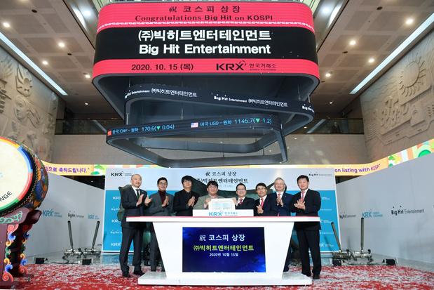 Video: K-popsensatie BTS maakt wervelende entree op Zuid-Koreaanse beurs