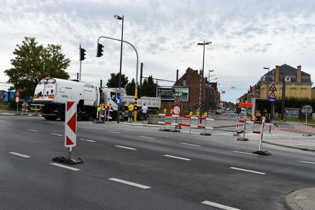Verkeershinder door werken aan kruispunt Dikkebusseweg en Oudstrijderslaan