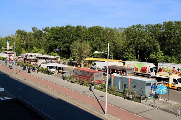 Dinsdagmarkt in Bredene even afgesloten door grote drukte