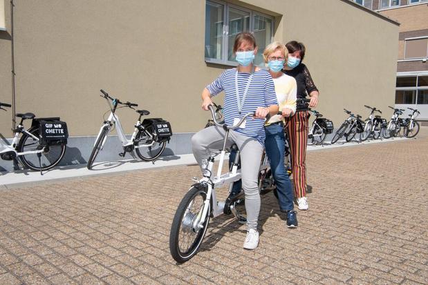 Sint-Jozefskliniek fietst ruim 15.000 kilometer met elektrische fietsen van de provincie