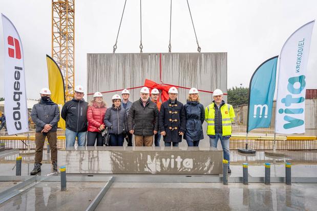 Eerste steen gelegd voor nieuw sportcomplex Vita Krokodiel